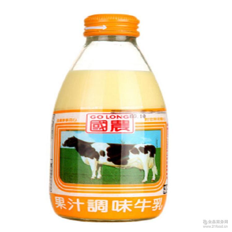 台湾进口饮料 7种口味 国农调味乳系列 250ml*24瓶