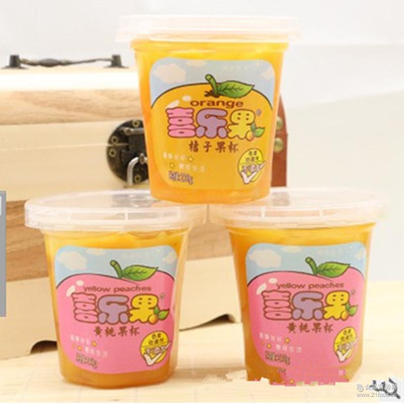 黄桃罐头 水果罐头果肉杯 桔子罐头 喜乐果黄桃果杯 24杯*230克