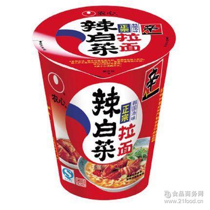 即食方便面70克*12杯/箱 农心辣白菜辛拉面