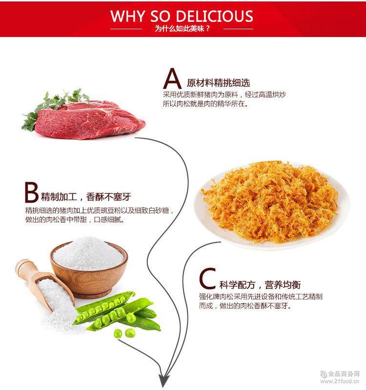 营养食品 强化牌猪肉松180g 健康佐餐佳品 寿司