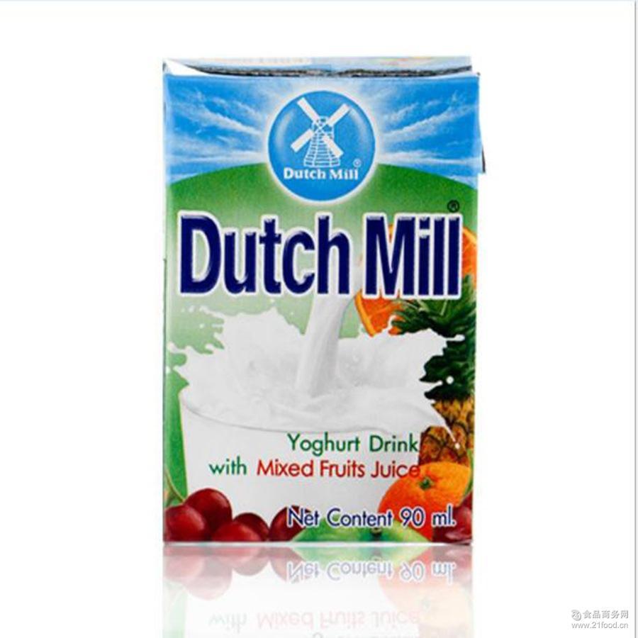 进口牛奶 90ml1*48盒 批发泰国达美进口酸奶饮品 综合味酸奶