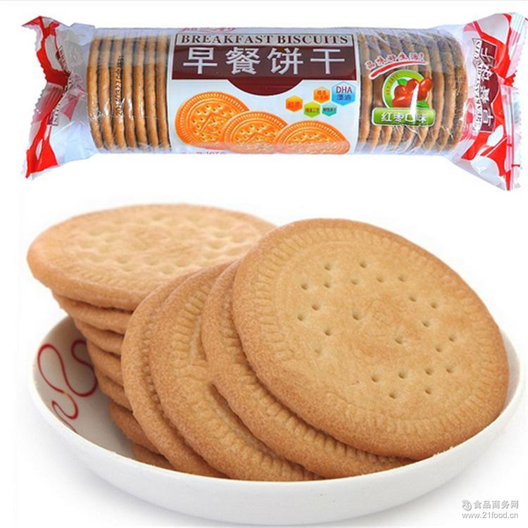 办公室白领* 原味红枣牛奶味 早餐食品 嘉士利167g早餐饼