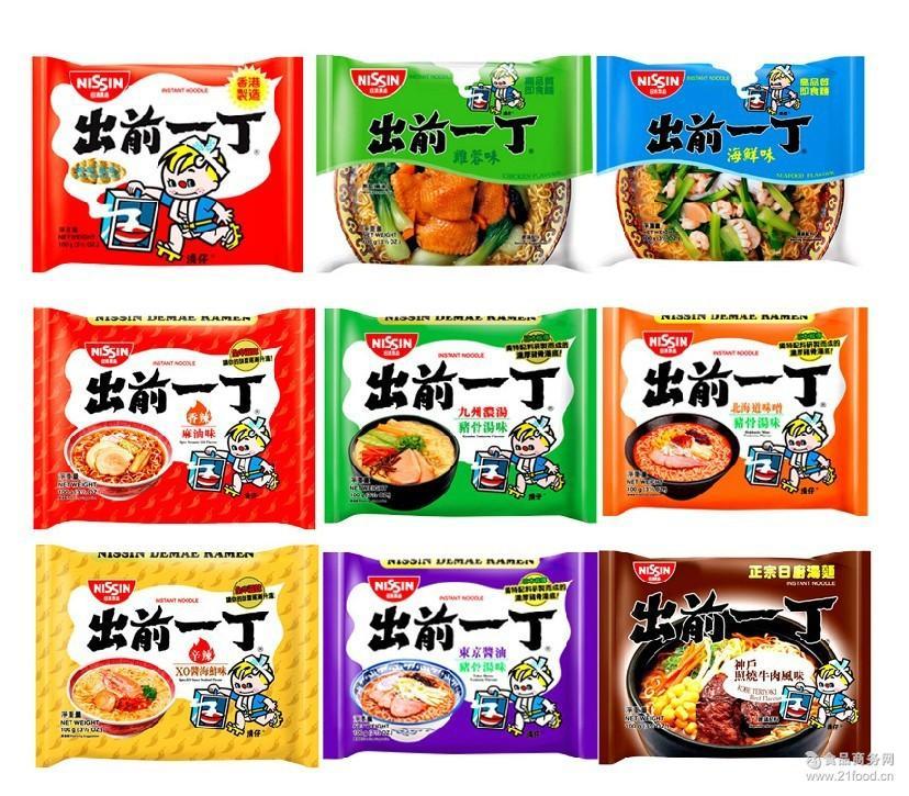 速食面出前一丁 香港进口方便面 速食泡面袋装 麻油海鲜猪骨浓汤