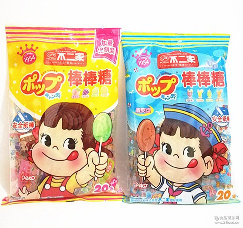 水果味20支儿童糖果 不二家棒棒糖 热销休闲零食品 棒棒糖批发图片