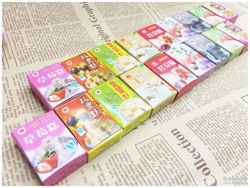 漓象传统糕点 多口味绿豆桂花板栗糕桂林特产小糕点10斤\箱