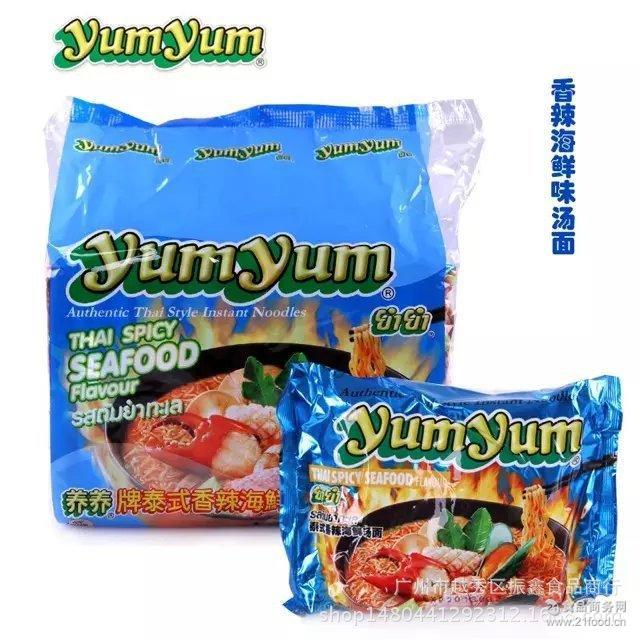 泰国进口养养牌泰式香辣海鲜味汤面70g*5包*6袋/件