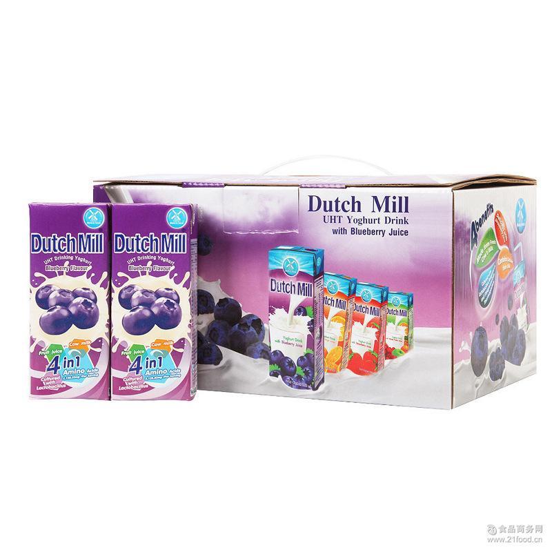 蓝莓味礼盒装 达美酸奶180m*12/箱 乳饮料 泰国进口酸奶批发