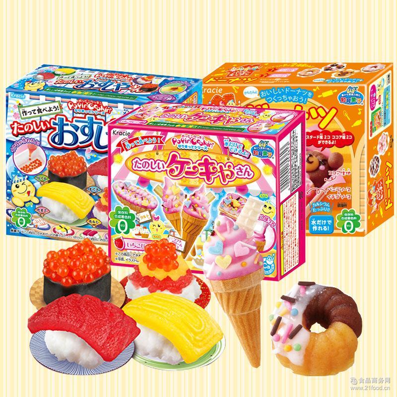 日本进口食玩Kracie嘉娜宝手工DIY糖果儿童零食寿司甜甜圈甜点糖