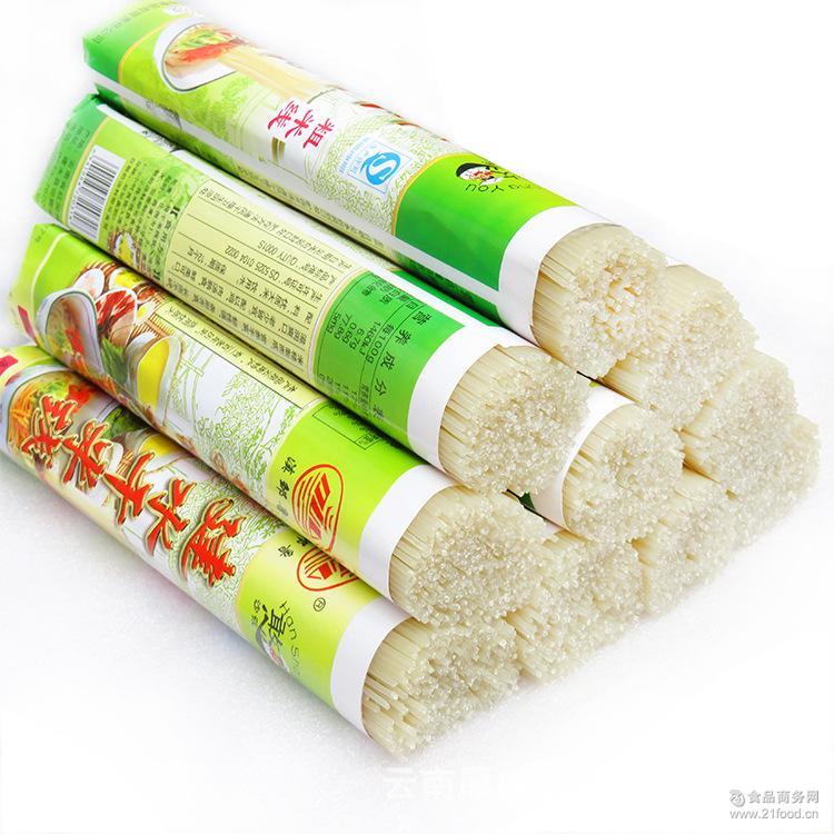 米线餐饮 云南正宗建水干米线憨沙莜餐过桥米线500g/把 批发代发