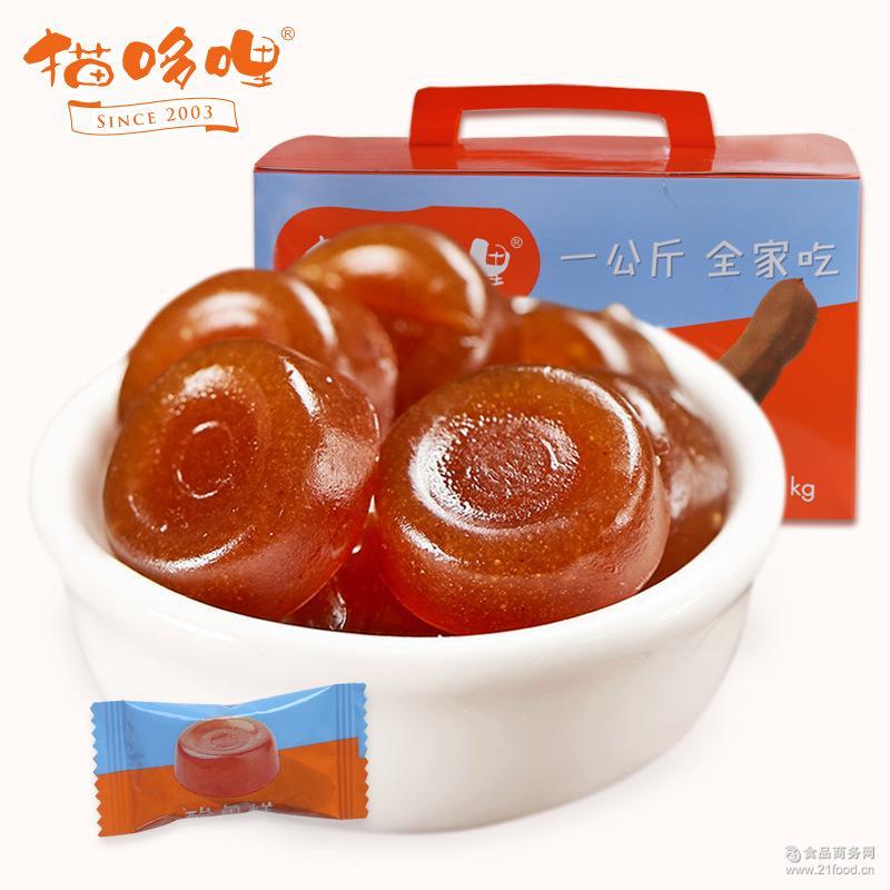 好吃的零食小吃孕妇食品糖果甜角果脯 云南特产猫哆哩酸角糕500g