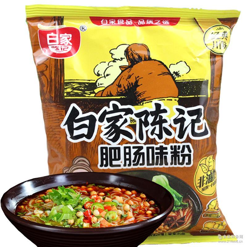 白家陈记 辣味肥肠味方便粉丝108g特色方便食品批发供应