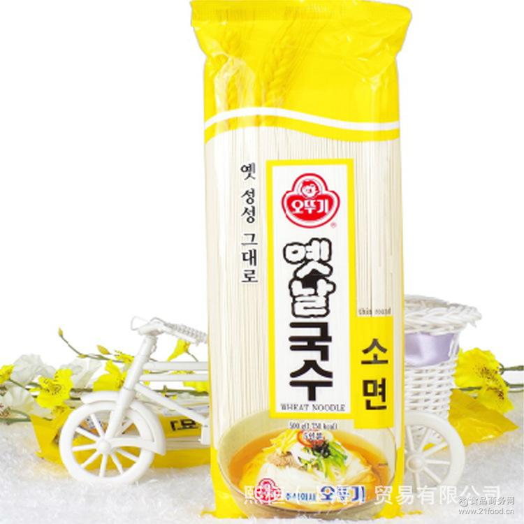 900g*15 不倒翁韩国进口奥士基传统细面炸酱面拌面挂面汤面