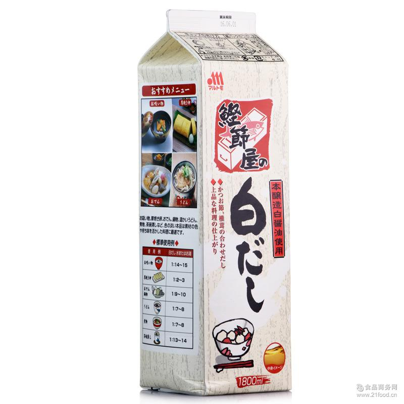 1.8L鲣节屋 丸友鲣鱼风味白酱油 原装日本酱油