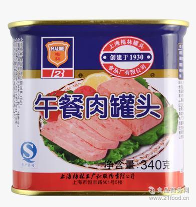 梅林午餐肉罐头午餐肉 340g*24 韩国部队年糕火锅专用