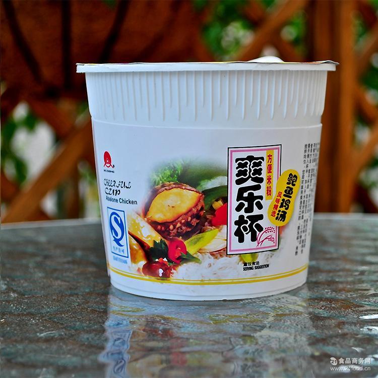 【厂家直销】爽乐杯方便米粉米线(鲍鱼鸡汤)75g*12