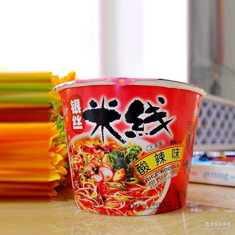 115g*12 【一件代发】合众大容量速食方便米粉米线桶装(酸辣味)