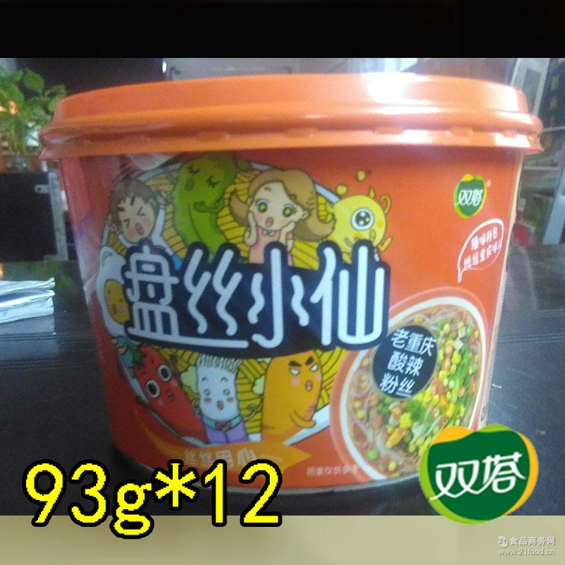 即食粉饼 双塔 酸辣粉丝 盘丝小仙 101g*12