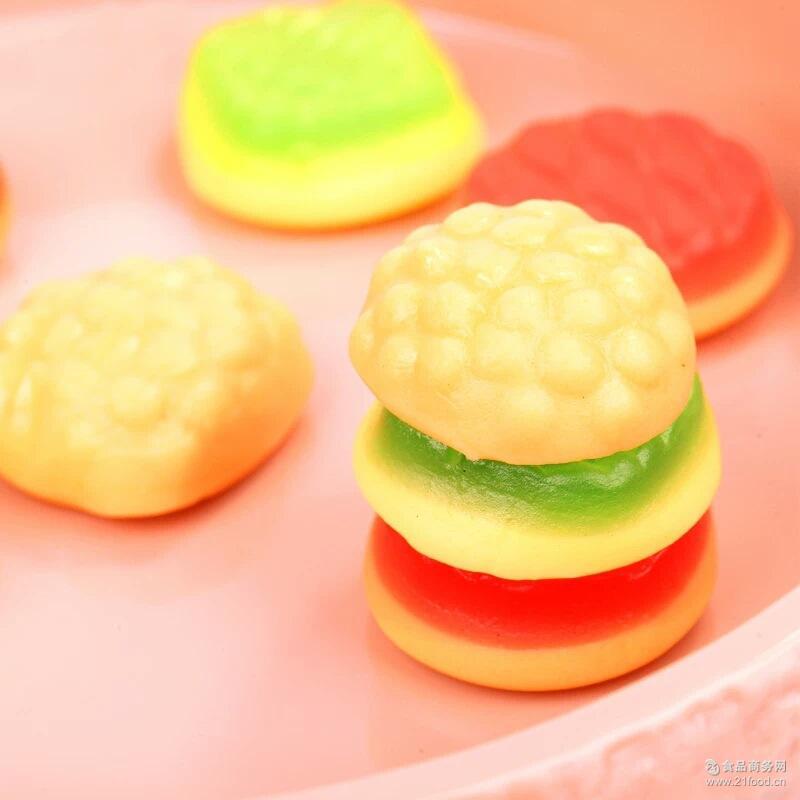 创意婚庆礼品糖 金稻谷250g超级飞侠汉堡包糖果 零食批发