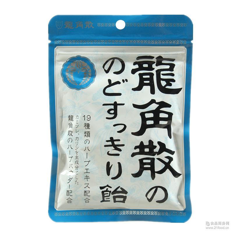 进口零食批发 袋 日本糖果 龙角散润喉糖果 薄荷糖88g*之品