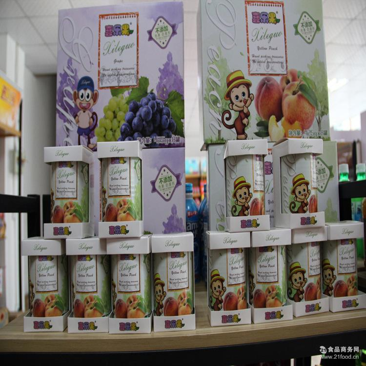 罐装罐头喜乐果黄桃桔子葡萄水果罐头礼盒精美包装425ml