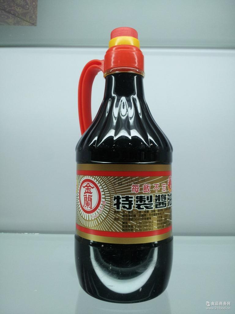 无防腐剂批发 台湾原装进口酱油金兰特制酱油1500ml/瓶美味鲜甜