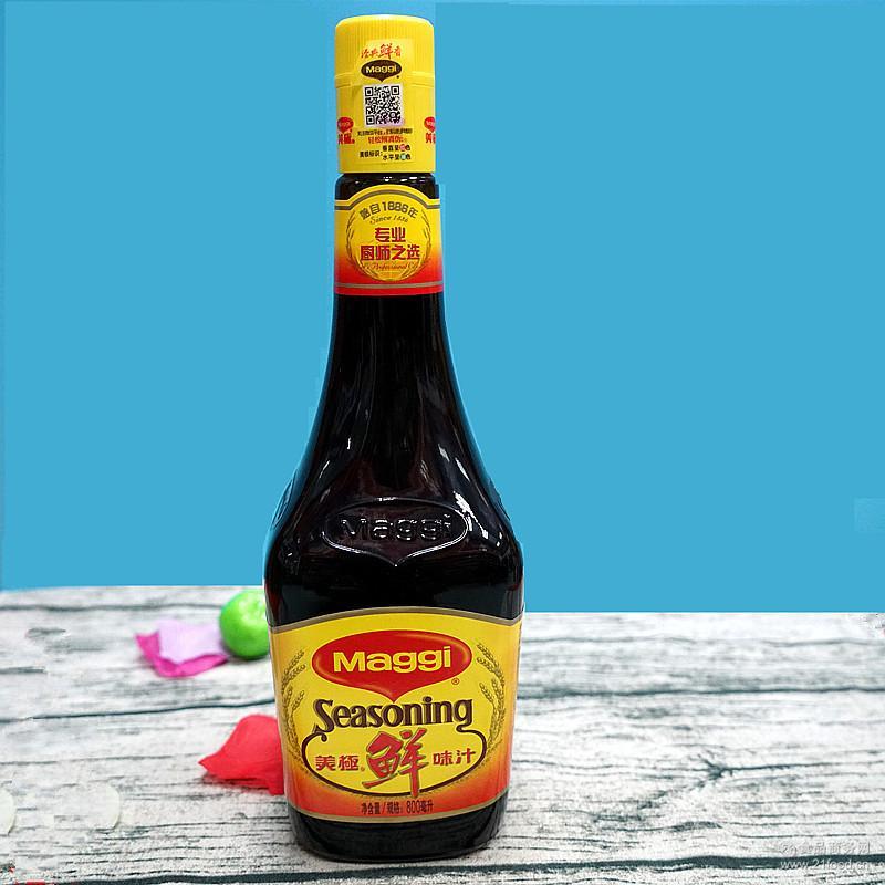 雀巢 酱油促销 美极鲜味汁酒店*酱油 美极鲜酱油800ml