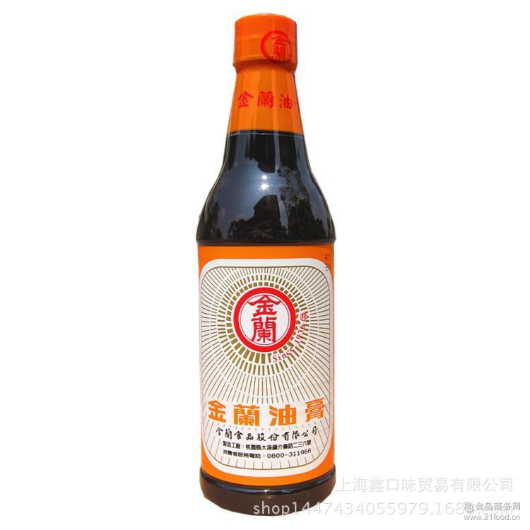 台湾原装进口调料 金兰590ml原味油膏 卤肉饭*老抽酱油调味品
