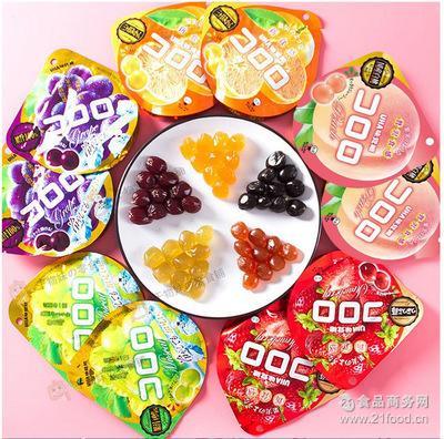 日本进口零食 UHA *葡萄果汁包裹软糖/QQ水果糖40g味觉糖
