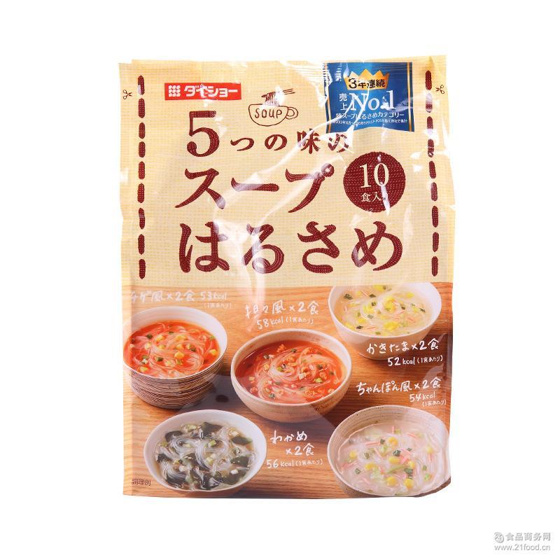 食品批发 164g 大正5种味道速食即食粉丝汤 日本进口冲泡食品
