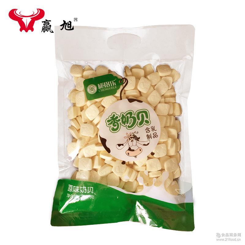 内蒙古特产500g原味香奶贝儿童干吃牛初乳奶片固态乳制品一件代发