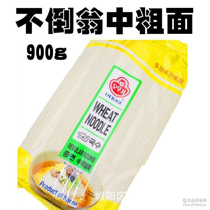 韩国进口食品 挂面 面条汤面炸酱面不倒翁中粗面小麦面条900g