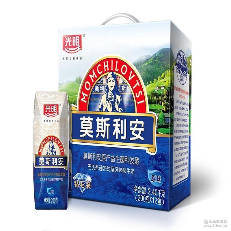 200g*12盒箱 光明莫斯利安酸奶 原味酸奶