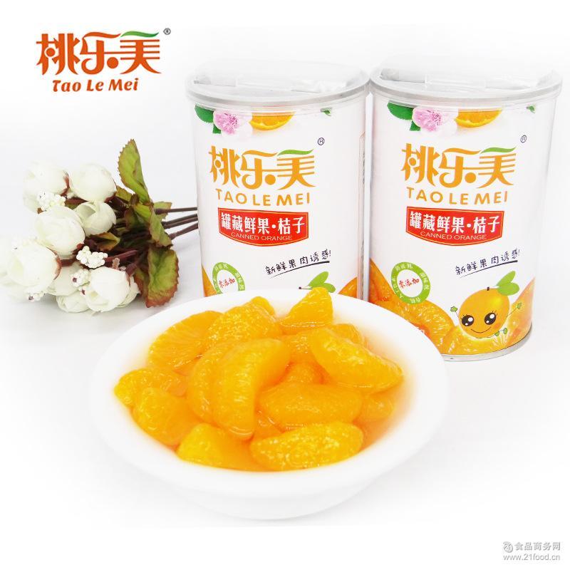 桃乐美新鲜水果罐头425g*6罐马口铁罐 厂家直销 桔子橘子罐头