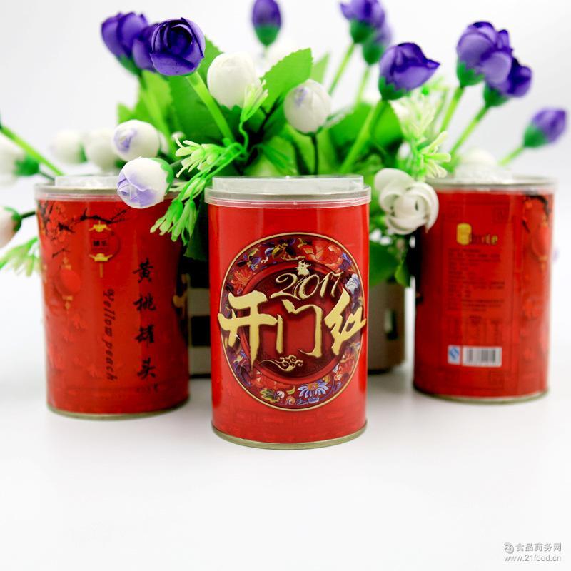 正宗砀山425g黄桃罐头 6罐礼盒装罐乐品牌 黄桃罐头食品厂家直销