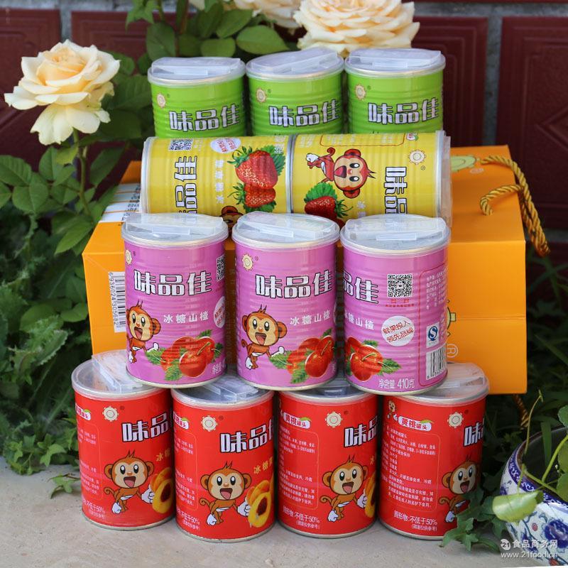 糖水山楂草莓雪梨黄桃罐头即食水果罐头易拉罐410g组合供应批发