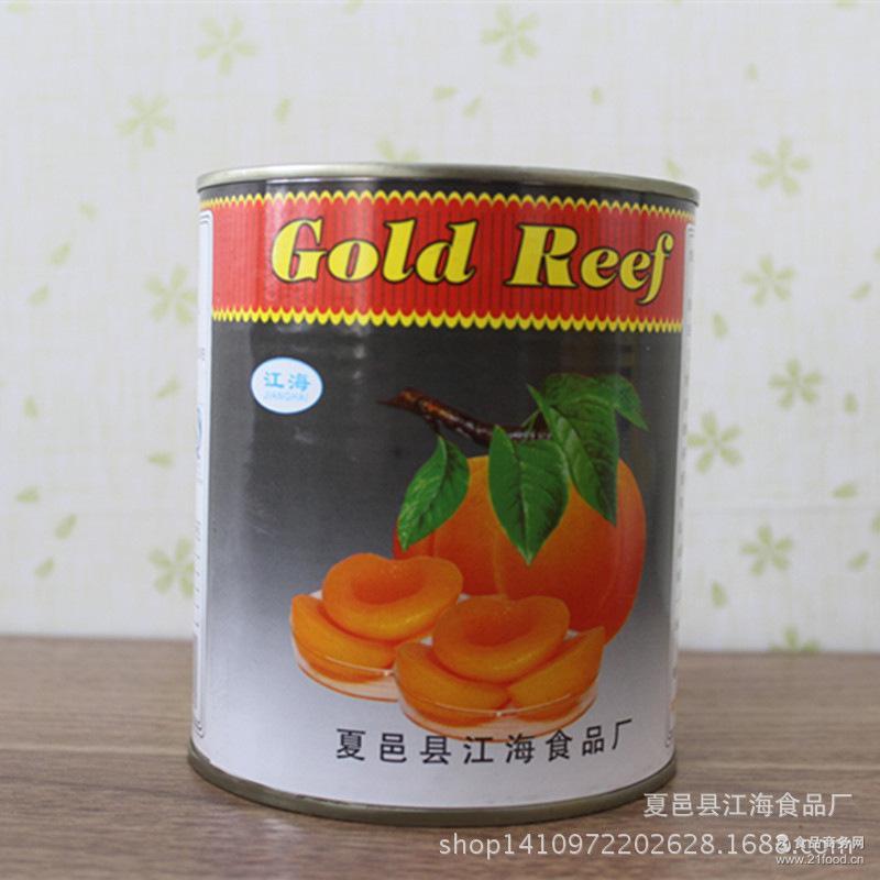 12罐/箱 820g* 烘培专用 厂家批发 黄桃糖水罐头 江海