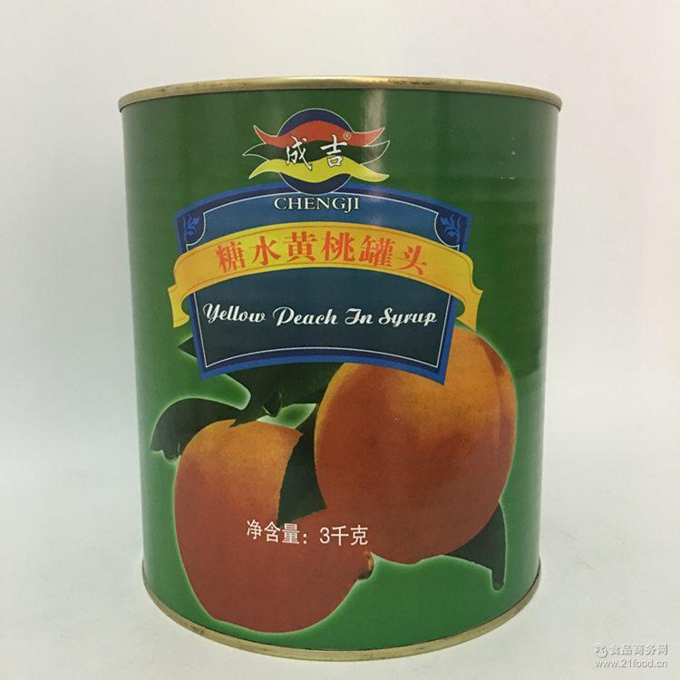 糖水黄桃 精选黄桃 成吉黄桃 水果沙拉* 3000g 比格专用
