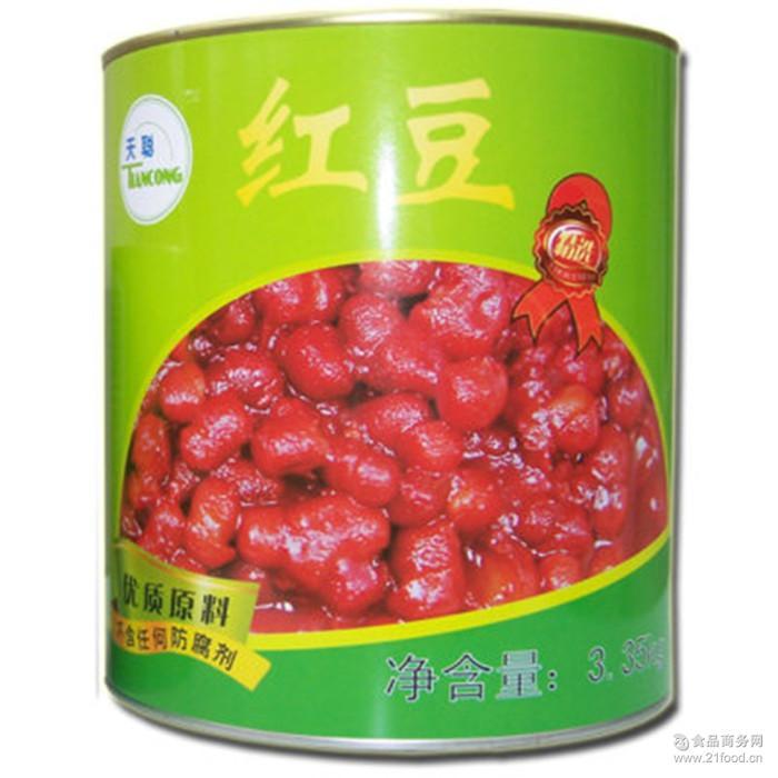 天聪红豆罐头 红豆罐头3.35千克 奶茶沙冰刨冰甜品可用 /950g