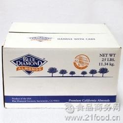 整箱 烘焙原料纯天然美国 11.34kg 蓝钻纯杏仁片巴旦木桃仁片
