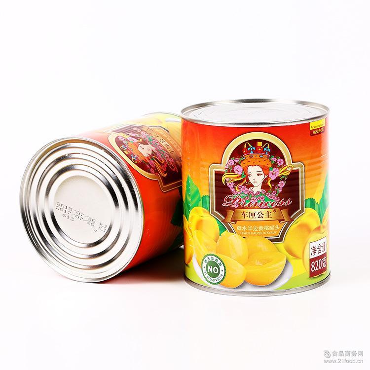 棒师傅车厘公主糖水半边山东黄桃罐头 烘焙专用罐头