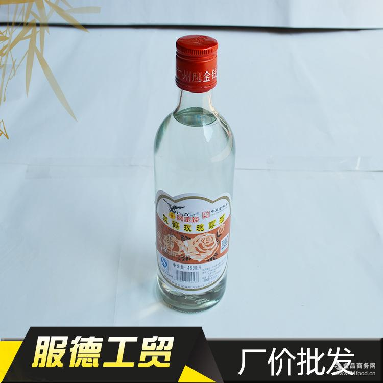 专业批发鹰金钱双鹤玫瑰露酒480ML烘焙调味酒西餐调料