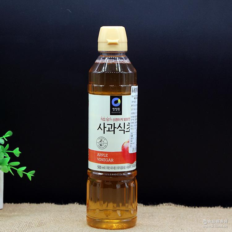 清净园苹果醋500ml酿造食醋兑水饮用可做香蕉醋 韩国进口