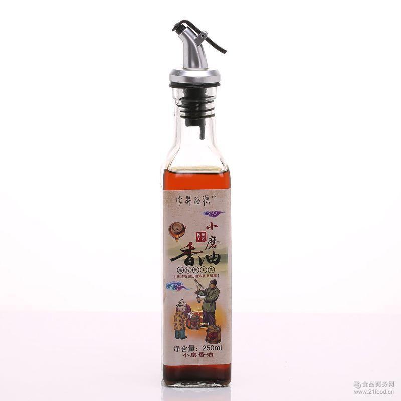 调味小瓶 厂家批发 孛昇益源 *纯小磨香油250ml 香油 纯芝麻油