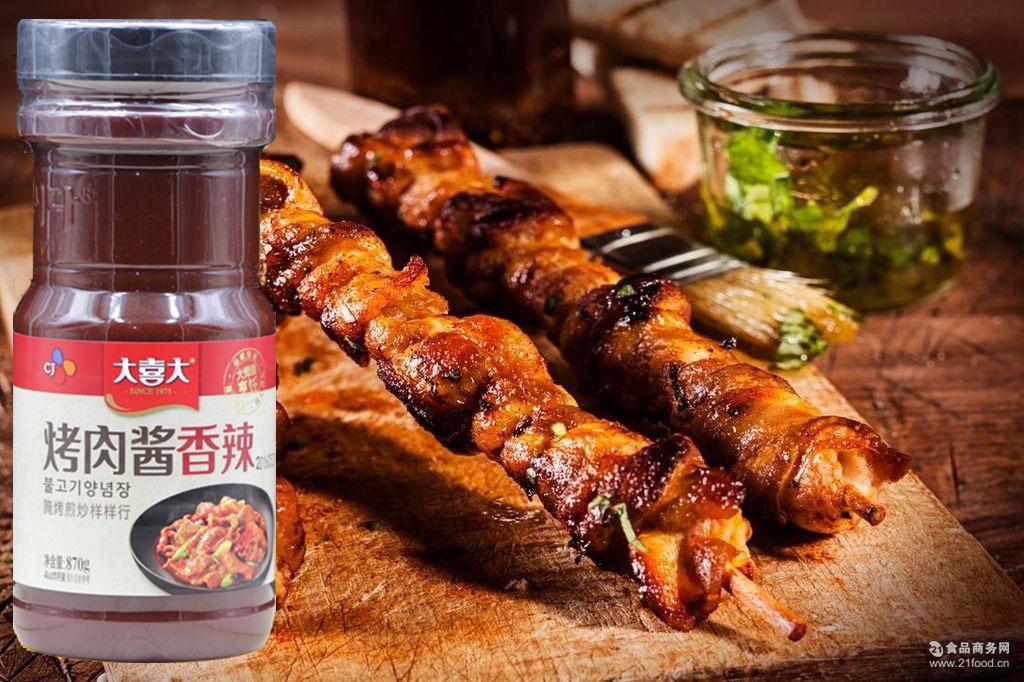 烤肉酱_腌肉酱 bbq 大喜大烤肉酱870g*12瓶韩国烤五花肉 韩式
