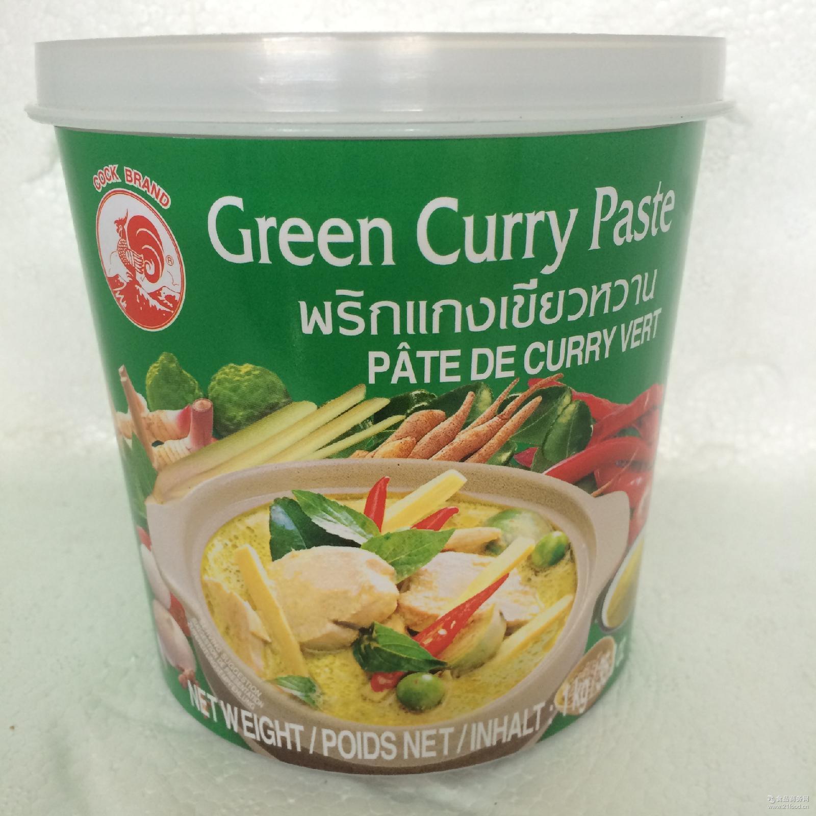 1kg*12瓶/箱 咖喱膏 鸡牌黄咖喱酱 咖喱酱 泰式咖喱酱 泰国黄咖喱