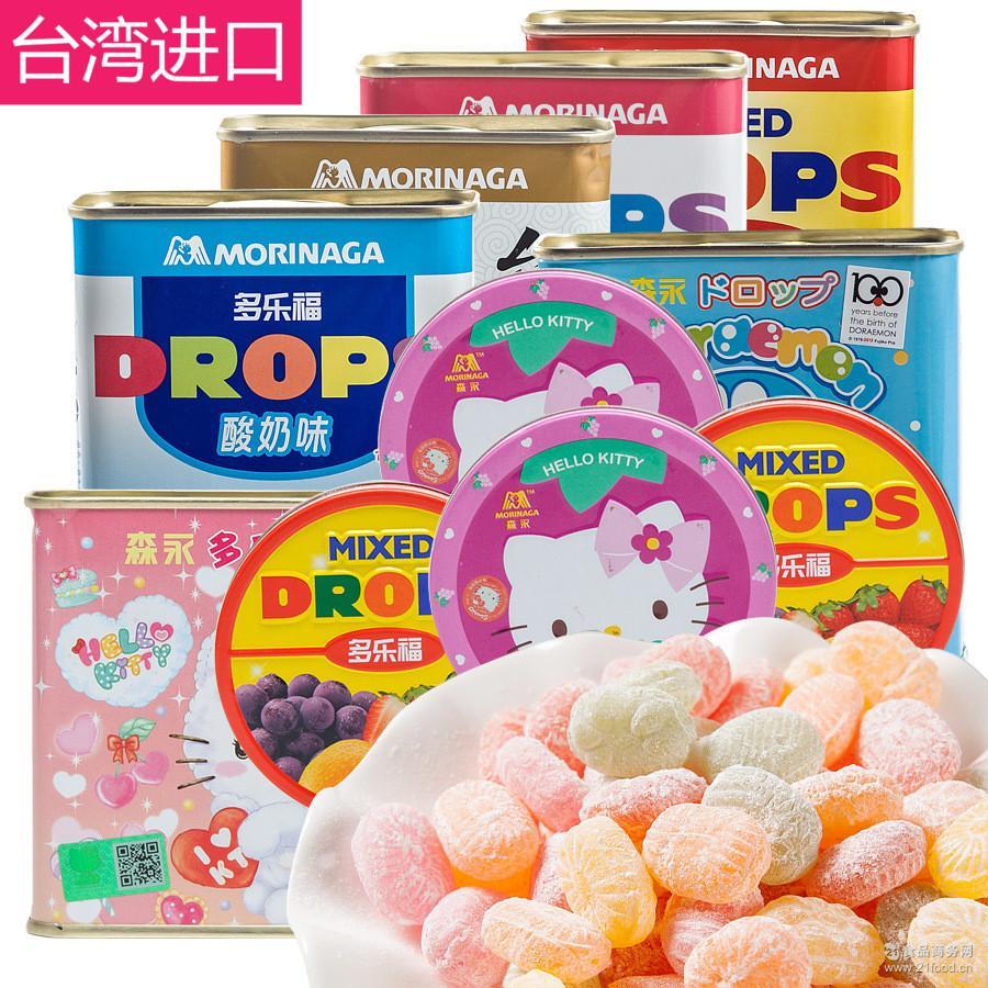 台湾进口森永多乐福水果糖180g多种口味罐装糖果儿小时候的味道
