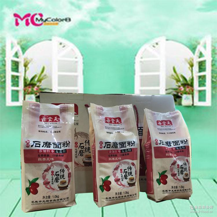 面 红枣 石磨 每食天红枣石磨面粉 面粉