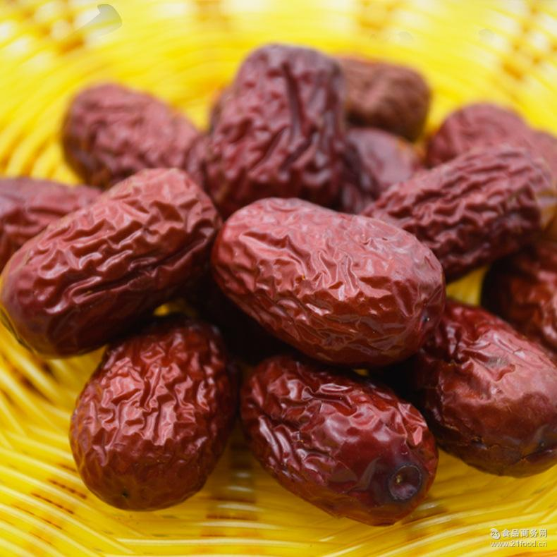 大量批发 新枣新疆特产若羌灰枣原粒枣免洗一级红枣 现货