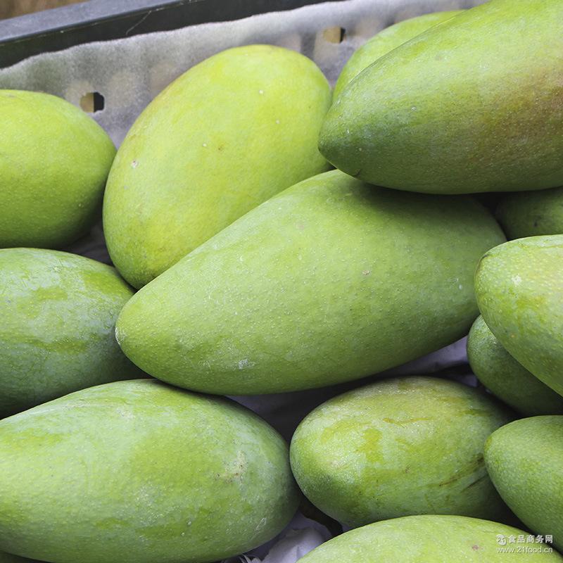 【多送3斤】新上市套袋果水果新鲜大青芒金煌芒果5斤批发一件代发