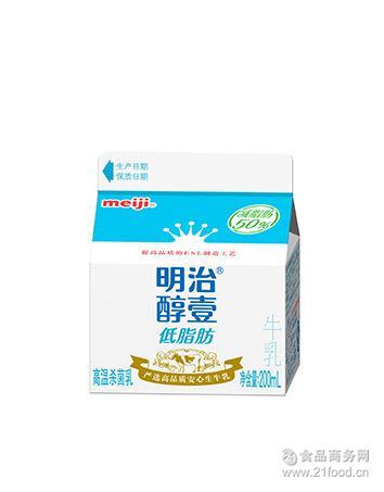 低脂肪高温杀菌乳 明治/Meji 无任何添加剂 醇壹低脂肪牛乳 200ml